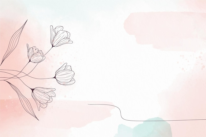 Soft pastel background with flowers