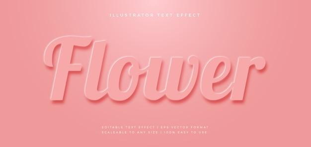 Мягкий пастельный элегантный эффект шрифта в стиле текста