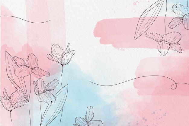 Soft pastel wallpaper with flowers