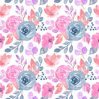 Soft pattern with floral watercolor