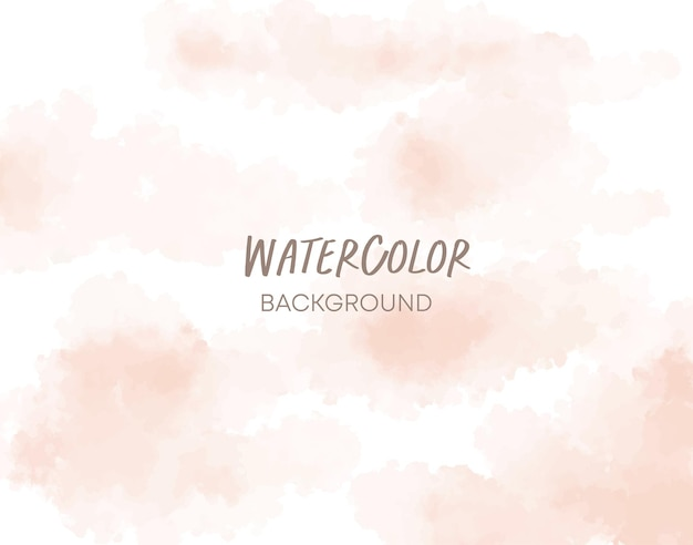 Soft peach watercolor background
