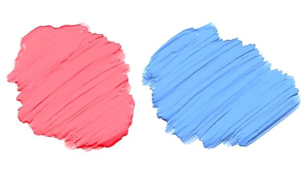 부드러운 분홍색과 파란색 두꺼운 아크릴 수채화 물감 페인트 텍스처