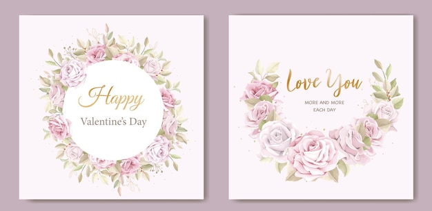 Soft pink valentine's day greeting card