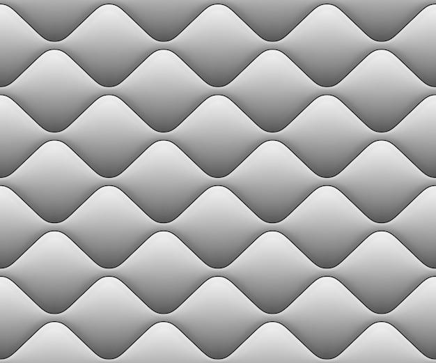 白の波と柔らかいシームレスパターン。拡大図。そしてまた含まれています