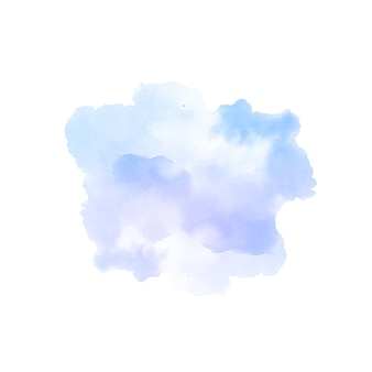 Soft violet watercolor splash stain design background vector