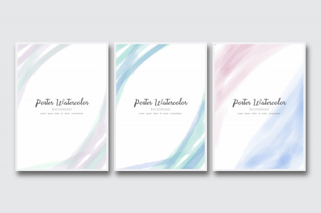 Soft watercolor brush pastel poster background