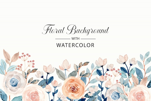 Soft watercolor floral background