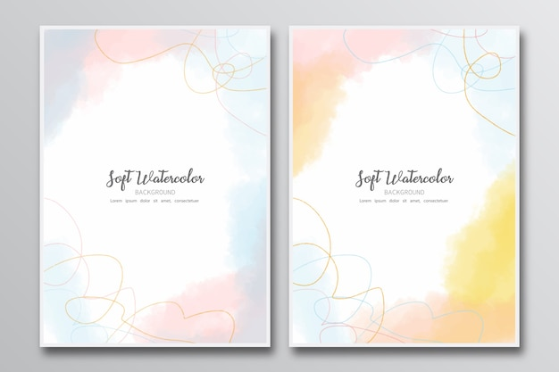 Soft watercolor painting background