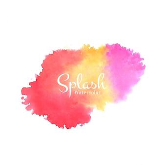 Soft watercolor splash  background