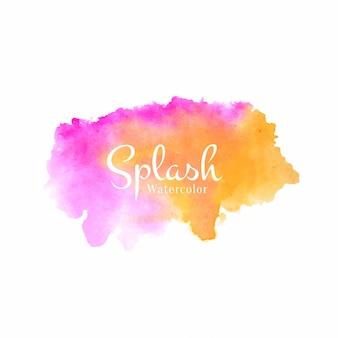 Soft watercolor splash design background