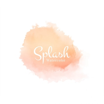 Soft watercolor splash hand drawn design