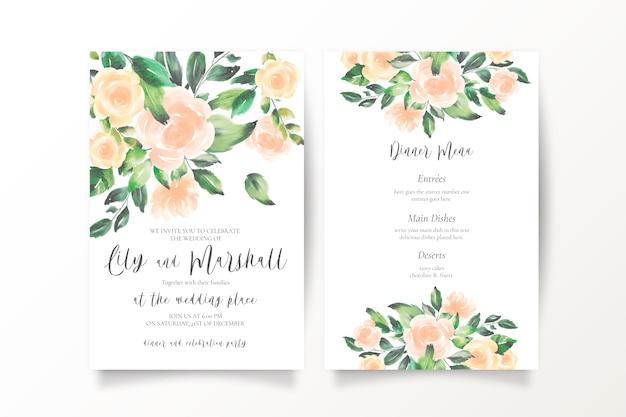 Мягкие акварельные свадебные приглашения