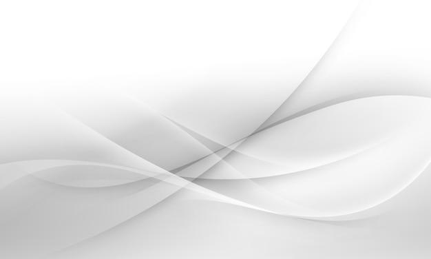 Мягкий белый и серый фон волны