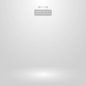Soft white gray gradient studio presentation background.