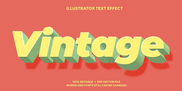 Soft yellow and green text effect 3d