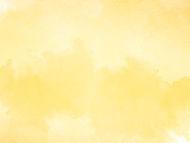 Soft yellow watercolor texture background