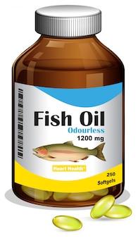 Бутылка рыбий жир softgels