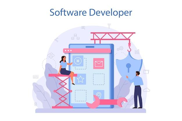 Software developer concept illustration