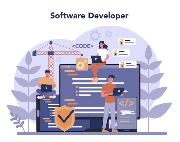 Software developer concept