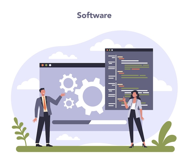 Software developing and data precessing industry sector of the economy