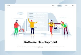 Software development modern flat design concept.