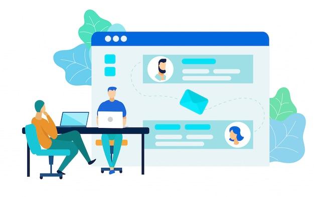 Software development process vector illustration