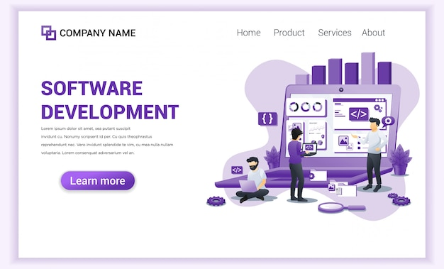 Software development and programmers  landing page