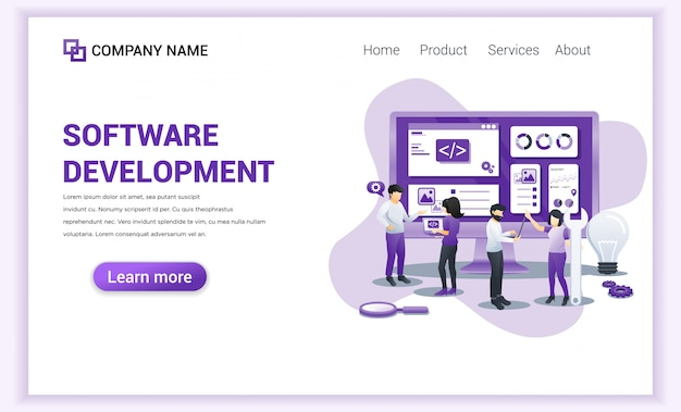Software development programmers  landing page