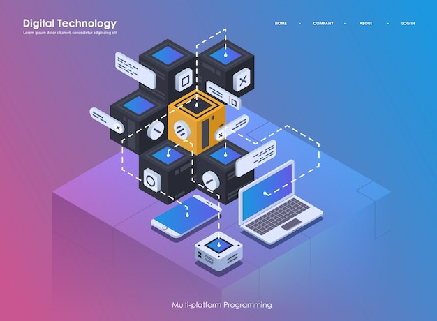 Software development and programming. coding creative program or system process. flat isometric illustration.