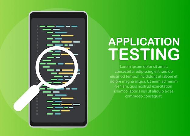 Software development, programming, coding vector concept.