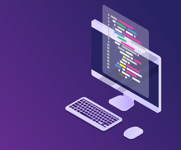 Software programming coding concept