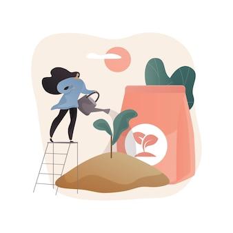 Soil fertility abstract illustration in flat style