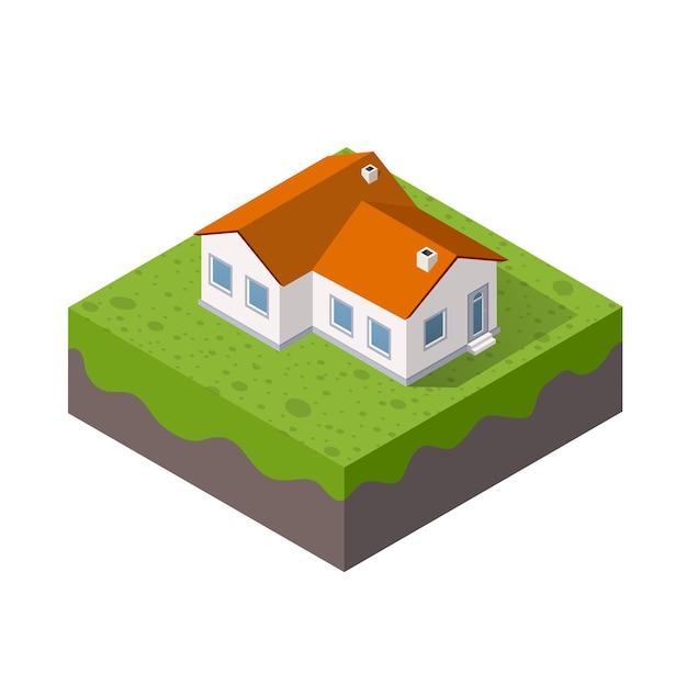 Слои почвы в поперечном разрезе геологическая зеленая трава и подземные слои почвы под природным ландшафтом изометрический срез протяженных органических, песчаных, глинистых слоев городской среды