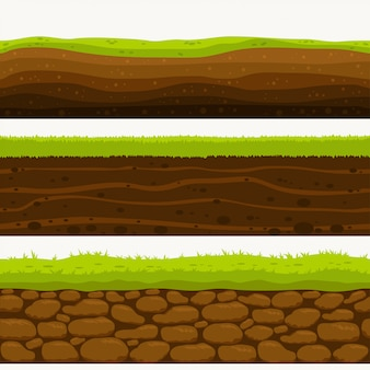 Soil seamless layers ground layer