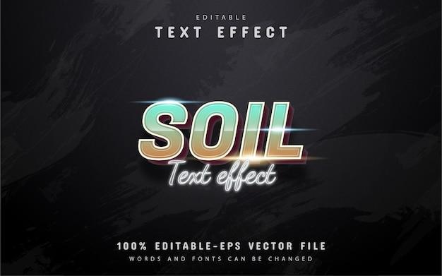 Текст почвы - эффект 3d градиента текста