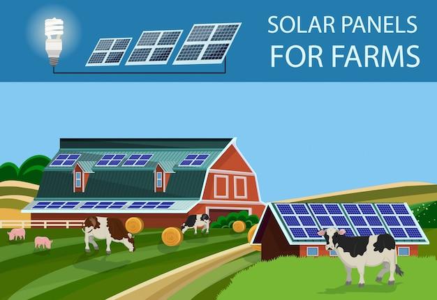 Solar batteries for farm