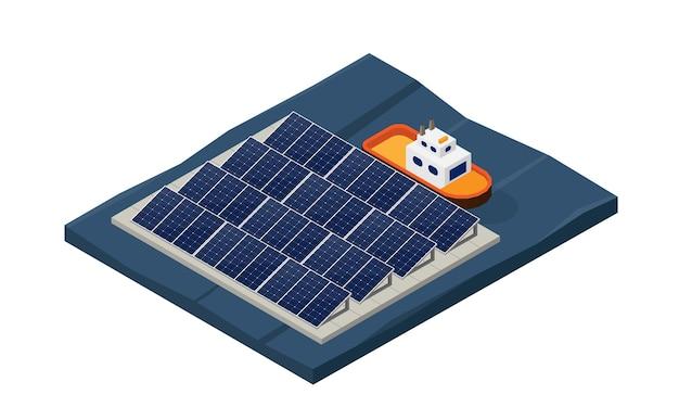 태양 전지 에너지, 아이소메트릭 뷰에서 태양 전지 부동 발전소