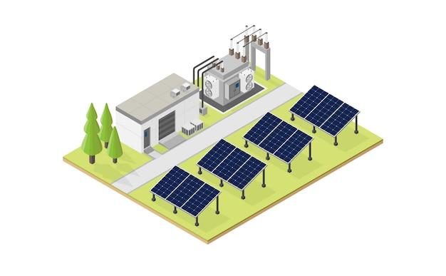 태양 전지 에너지, 아이소메트릭 뷰에서 태양 전지 발전소