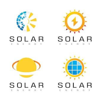 Дизайн логотипа солнечных батарей, вдохновение