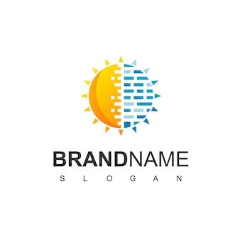 태양 전지 로고 디자인 영감