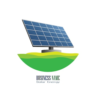 Solar cell logo vector