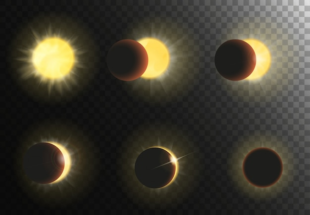 Solar eclipse phases set