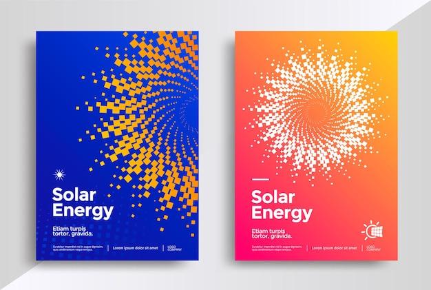 Solar energy cover design template.