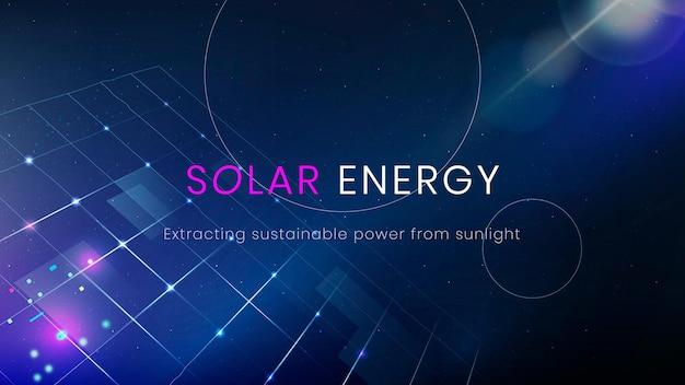Солнечная энергия окружающей среды шаблон вектор чистых технологий баннер