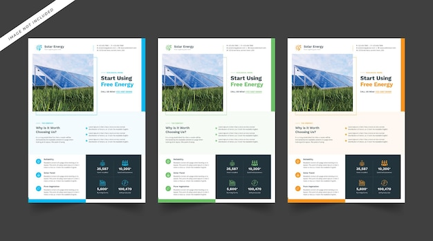 Solar energy product flyer template