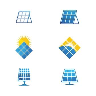 Шаблон иллюстрации значок вектора солнечной энергии