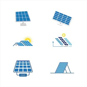 태양 에너지 벡터 아이콘 일러스트 템플릿