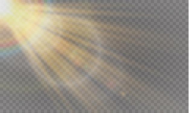 Solar flare transparent special light effect design.