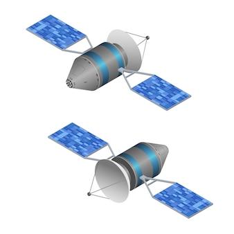 Спутник наблюдения за солнцем на изометрической проекции