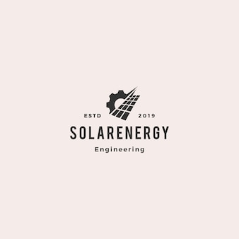 Solar panel energy service logo